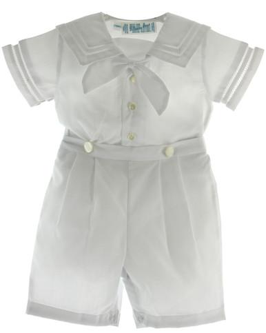 Boys White Sailor Bobbie Suit