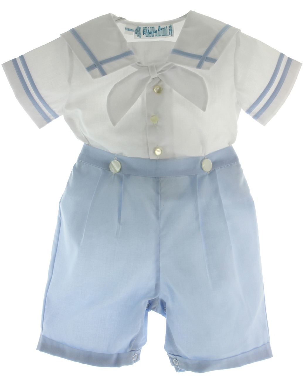 Boys Blue   White Sailor Bobby Suit Dedication Outfit Feltman Brothers fa1c457ff6bb