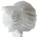 Infant Girls White Baby Bonnet Lace Trim - Feltman Brothers