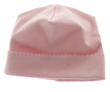 Baby Girls Pink Monogrammed Take Home Hat Magnolia baby