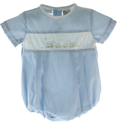 Boys Shadow Stitch Train Outfit