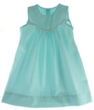 Girls Aqua Blue Sleeveless Float Dress Monogrammable