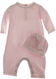 Pink Knit Layette Romper