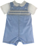 Blue Gingham Romper