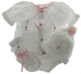 Girls White Knit Layette