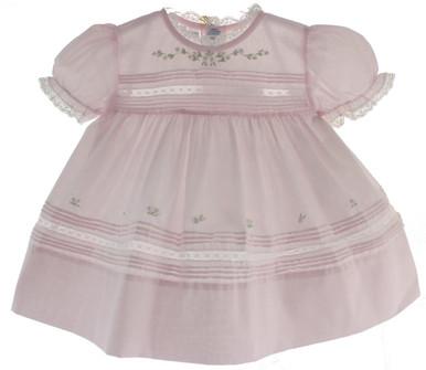 Feltman Newborn Girls Pink Heirloom Dress