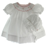 Newborn White Church Dress