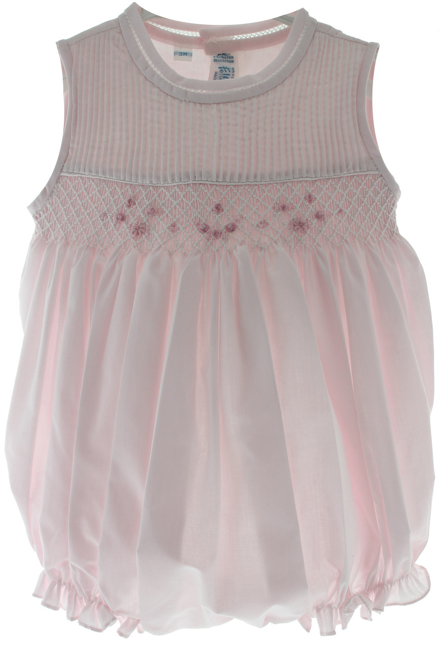 Feltman Brothers Girls Smocked Sleeveless Bubble Outfit