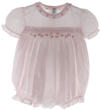 Pink Smocked Bubble Outfit