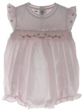 Feltman Brothers Pink Smocked Bubble Outfit Sleeveless