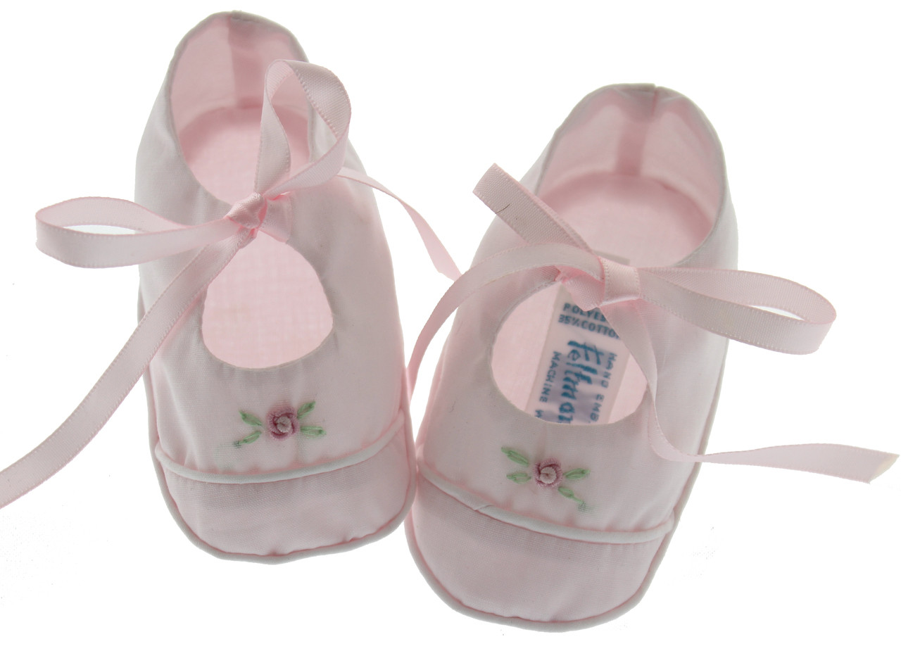 Feltman Brothers Girls Pink Dressy Baby Booties with ...