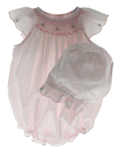 Smocked Bubble Outfit & Bonnet