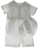 White Linen Christening Outfit