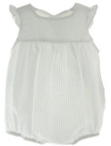 Baby Girls White Seersucker Sleeveless Bubble Outfit