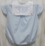 Blue Monogrammed Bubble Outfit
