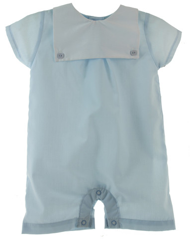 Blue Monogram Shortall