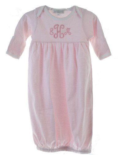 Pink Take Home Gown for Girl | Monogrammed Newborn Gowns
