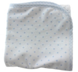 Blue White Polkadot Receiving Blanket