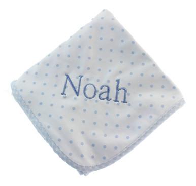 Magnolia Baby Gingham Dots Blue Blanket