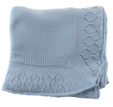 Blue Christening Blanket
