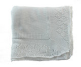 Boys or Girls White Christening Baptism Shawl Blanket | Sarah Louise