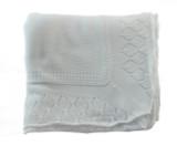 Sarah Louise White Shawl Blanket