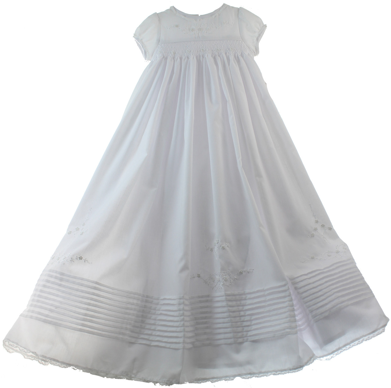 e72ceb1da Girls Christening Gown Sarah Louise. Smocked Christening Bonnet Sarah  Louise. Image 3. See 2 more pictures