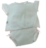 White Pink Diaper Set