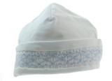White SMocked hat