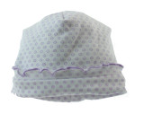 Kissy Kissy Baby Girls White Hat with Lavender Print