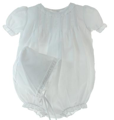 White Newborn Bubble outfit