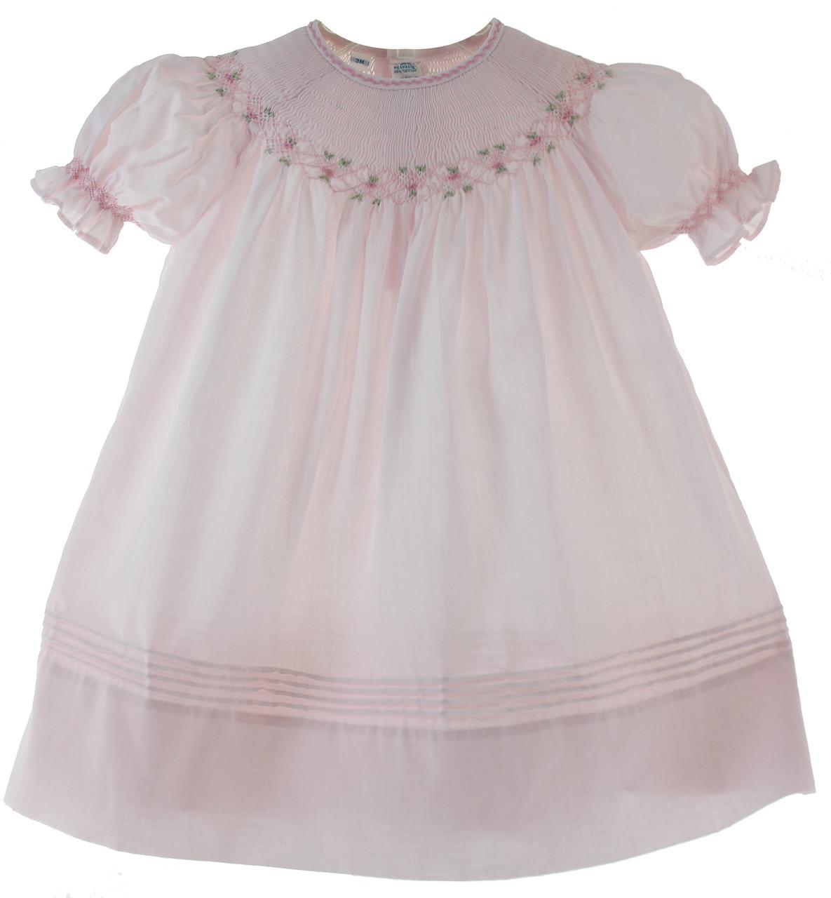 381234b918d8 Feltman Brothers Pink Smocked Bishop Dress