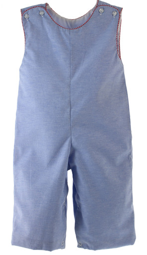 Boys Chambray Long Romper