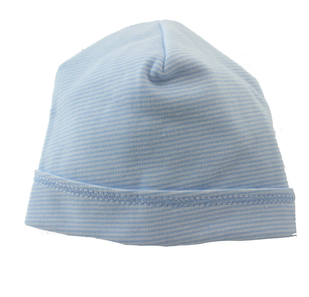 547131882 Magnolia Baby Boys Blue Striped Beanie Hat | Personalized Newborn Boys Hat