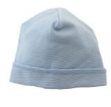 Blue Striped Beanie Hat
