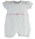 Baby Girls White Knit Romper