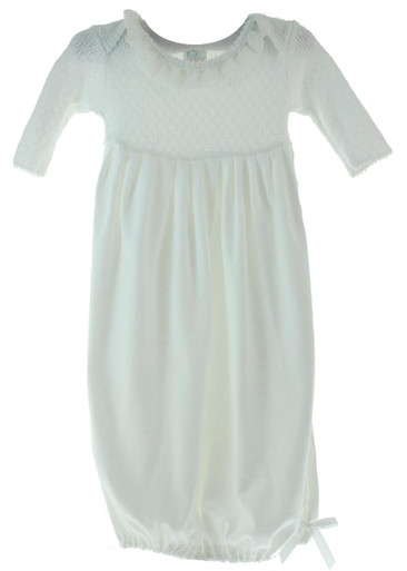 White Ivory Baby Gown