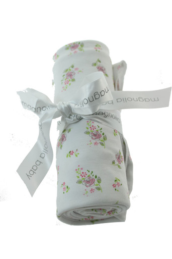 Pink & Green Swaddle Blanket for Girl