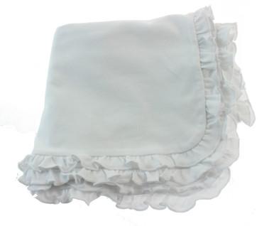 White Christening Blanket