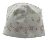 Magnolia Baby Girls Take Home Hat Pink & Green Floral Print