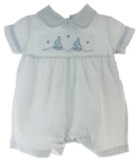 Newborn Boys White Outfit with Sailboats