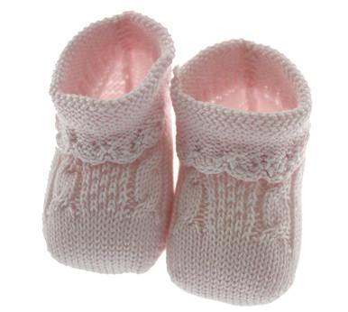 Newborn pink Baby Booties