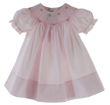 Toddler Girls Pink Smocked Dress