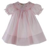 Toddler Girls Pink Smocked Dress