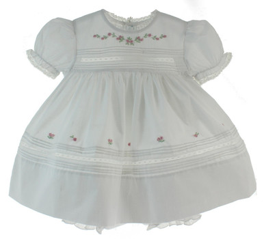 Heirloom Baby Dress White & Pink Feltman Brothers