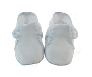 Baby Boys White Blue Bootie Shoes Feltman Brothers