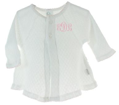 Baby Girls Dressy White Sweater Paty Inc