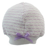 Lavender Hat for Newborn Girl with  Bow
