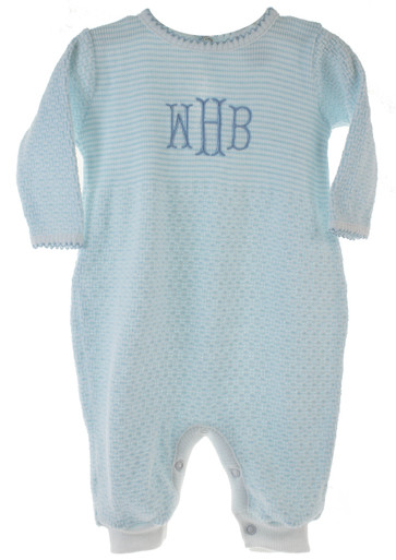 Paty Inc Baby Boys Cotton Pajama Monogrammed