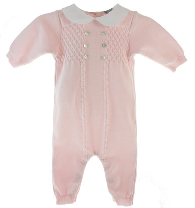 Infant Girls Pink Knitted Layette Sleeper Feltman Brothers